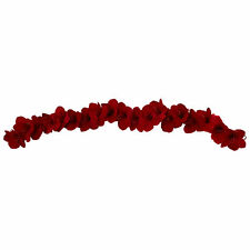 Artificial 5 ft Red Amaryllis Silk Flowers Blooms Floral Garland