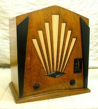 Old Antique Wood Jackson Bell Sunburst Vintage Tube Radio - Restored & Working