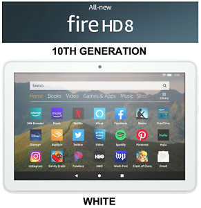 NEW Amazon Fire HD 8 Tablet 64 GB - 10th Generation 2020 Release - WHITE