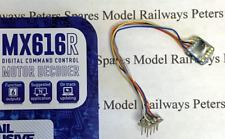 Zimo MX616R Micro DCC 8 Pin Wired Decoder Small 8x8x2.4mm 1.5A Peak 6 Func