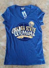 Nwt Ladies Size Large Golden State Warriors V-neck T-shirt Blue
