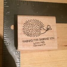 New Porcupine Butterfly Friendship Message Woodblock Rubber Stamp - Crafting