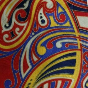 Blue Red Gold Abstract  ERVE JACQUES Silk Tie