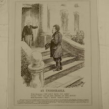 """7x10 """"Punch Cartoon 1929 indeseable Trotsky"""
