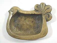Theophile Steinlen antique patina bronze rooster-shaped ashtray, signed