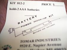 Tomar AAA Battery holder for 2 batteries  #812-2   Bob The Train Guy