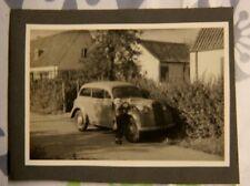 Foto KFZ car Auto Opel Olympia militär fahne wimpel X1