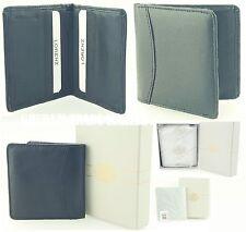 Titular de la tarjeta de crédito, cartera, Bolso De Cuero Real de Lorenz Suave + Caja De Regalo Nueva Venta