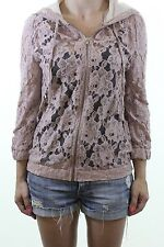 RIVER ISLAND floral lace see through zip up hoodie hoody size 6