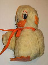 25cm ancien jouet PELUCHE CANARIS Plush DOUDOU vintage TOY bird VINTAGE oiseau