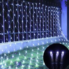 96/200Led Net Mesh LED Lights String Outdoor Party Decoration Xmas US Plug 110V