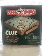 Monopoly & Clue 6 Classic Games in a Solid Wood Cabinet Box Brand New Family Fun