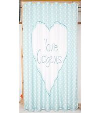 New Large Polka Dots Shower Curtain - Blue Youre Gorgeous  !! Fast Delivery !!