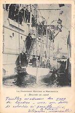 POSTCARD  MILITARY    BOER  WAR   President  KRUGER  visit  Marseille