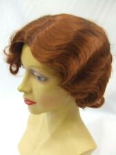 1920's / 1930's Finger Wave Wig ~ Rich Auburn 130 ~ Flapper ~ Theatrical quality
