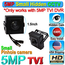 5MP 1080P HD TVI Hidden SPY Camera CCTV Pin Hole mini small