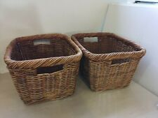 Bundle of 2 x Wicker Storage Baskets - 34T