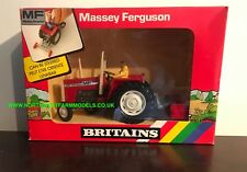 BRITAINS 1:32 SCALE MASSEY FERGUSON 595 TRACTOR WITH YARD SCRAPER 9514