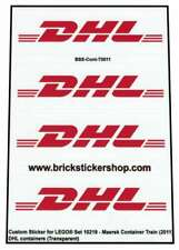 Precut Custom Stickers voor Lego Set 10219 - Maersk Train - DHL Containers