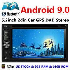 Android 9.0 Double 2din 6.2 inch Car GPS FM DVD Multimedia Stereo Player 2+16GB