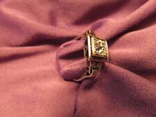Très belle bague ancienne en platine et diamant véritable vers 1900 - BIJ/197/04