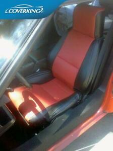 Premium Leatherette Tailored Slip-On Red Seat Covers for Chevy Corvette C4