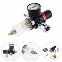 1/4''Air Compressor Oil Water Regulator Filter Pressure Gauge Moisture Trap Set