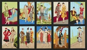 """Pre-Cut Panel (23"""" x 43"""") Glamour Girls AWU-16515-195 Bright by World Art Group"""