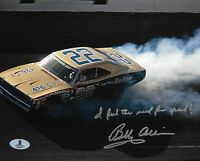 BOBBY ALLISON SIGNED AUTOGRAPHED 8x10 PHOTO + GREAT INSCRIPTION BECKETT BAS
