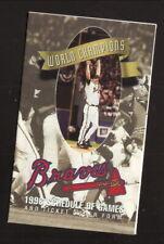 Atlanta Braves--Tom Glavine--1996 Pocket Schedule--Dow Brands