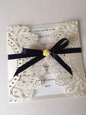 NUOVO Personalizzata / realizzata a mano lusso LASER CUT Rose Wedding Invitation