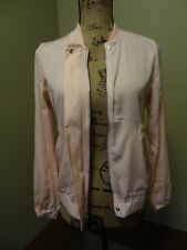 New Juicy Couture Women's Drapey Satin Bomber Jacket, XS X-Small, Pink