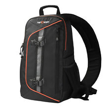 Waterproof Camera Sling Backpack Bag Case For Canon Nikon Sony DSLR w/Rain Cover