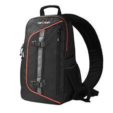 Waterproof Camera Sling Backpack Bag Case For Canon Nikon Sony DSLR w/Rain Cover