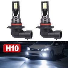 2x 9145 9140 H10 LED Headlight Kits 110W 20000LM Fog Lamp 6000K Driving DRL Bulb
