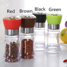 Portable Manual Hand Twist Pepper Mill- Spice Salt Grinder Kitchen Grinding Tool