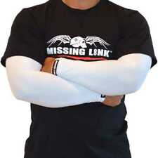 Missing Link Spf 50 Solid White ArmPro Tattoo Compression Sleeves - Apwt