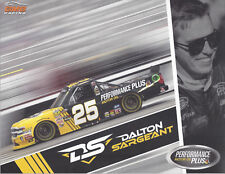 "2018 DALTON SARGEANT ""PERFORMANCE PLUS OIL 2ND VERS"" #25 NASCAR TRUCK POSTCARD"