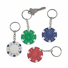 Poker Chip Keychains - Apparel Accessories - 12 Pieces