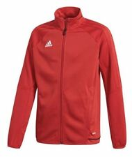NWT Adidas BR2704 Red White Youth Climacool Soccer Training Jacket Sz L