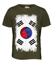 SOUTH KOREA GRUNGE FLAG MENS T-SHIRT TOP HANGUK KOREAN NAM-JOS?N SHIRT FOOTBALL