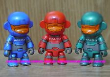 """Toy2R x XBOX 360 Live HALO 3 2.5""""Qee Mon Key Chain Set of 3pcs Not For Sale"""