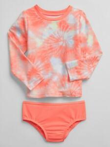 Baby Gap Multi Tie Dye Rash Guard Two Piece Swim Suit NWT Various Szs