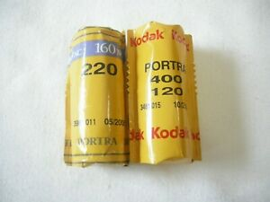 Kodak Portra 400 120, and Portra 160NC 220 color print film out dated 2 rolls