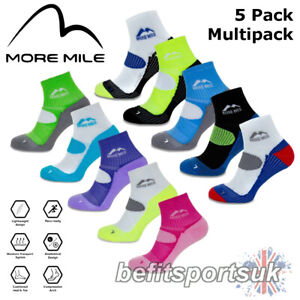 RUNNING CUSHIONED SPORTS SOCKS MENS WOMENS MORE MILE LONDON CROSSFIT GYM 5 PAIRS