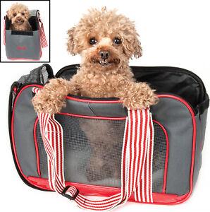 Candy Cane' Fashion Designer Travel Pet Dog Carrier bag w/ Leash Holder