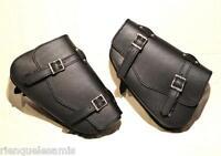 Duo de sacoches latérale en cuir pour Harley V-rod / night rod (sous la selle)