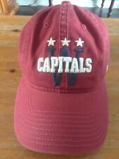 WASHINGTON CAPITALS Winter Classic logo baseball hat - Red CCM Caps Cap W logo
