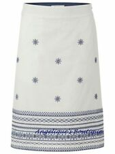 White Stuff Knee Length Cotton Blend Skirts for Women