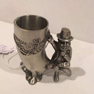 Mullingar Pewter Shot Glass with Leprechaun Design